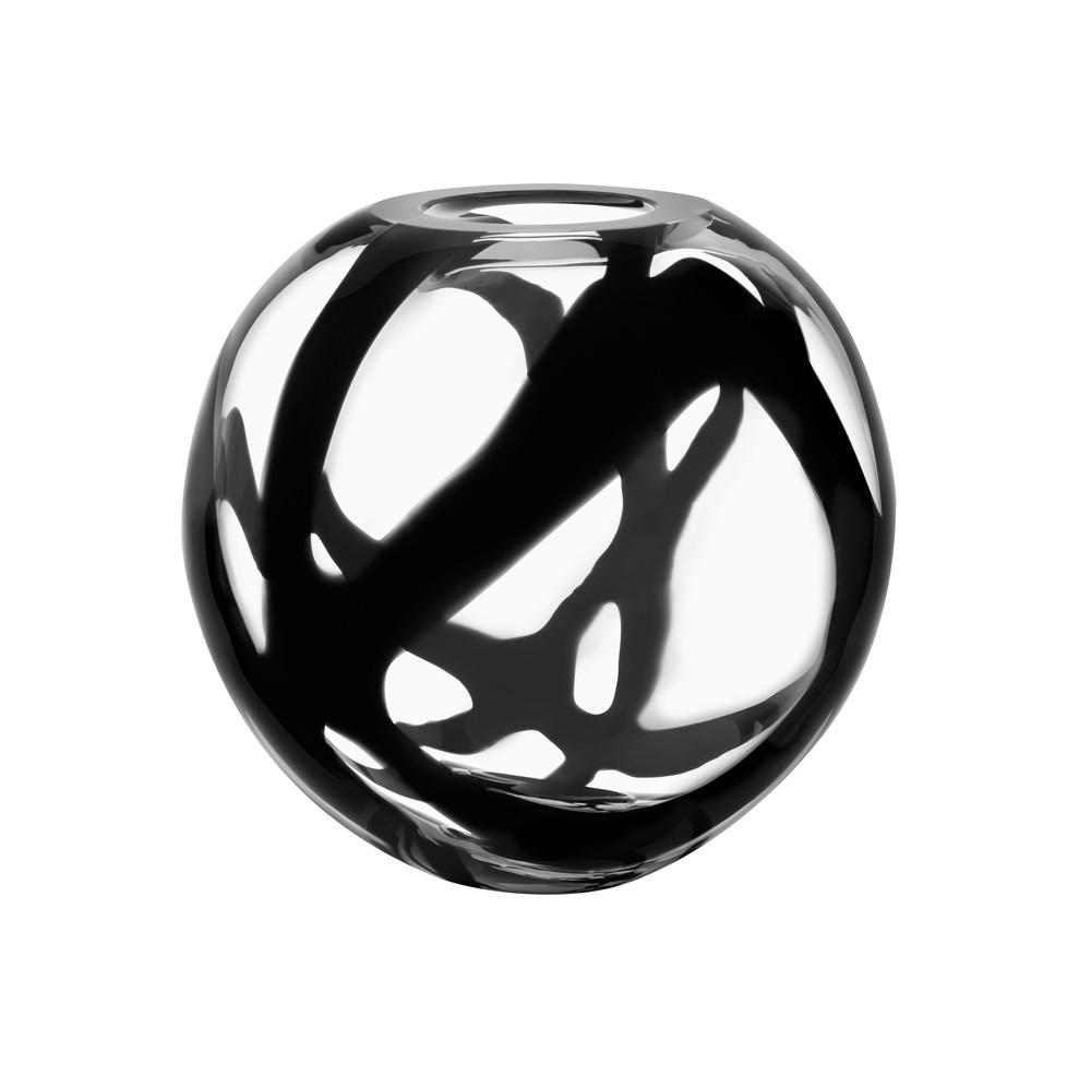 Globe black vase