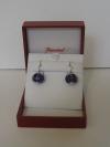 Sherazade earrings silver wire violet