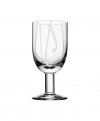 Contrast wine glass white
