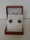 Sherazade earrings silver wire violet