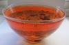 Satellite large red bowl
